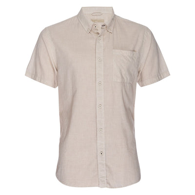 Truman Short Sleeve Microstripe - Tan