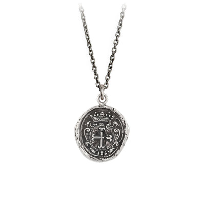 Sterling Silver Talisman Necklace - Trust in God