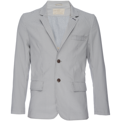 Kurt Notched Lapel Blazer in Stretch Seersucker