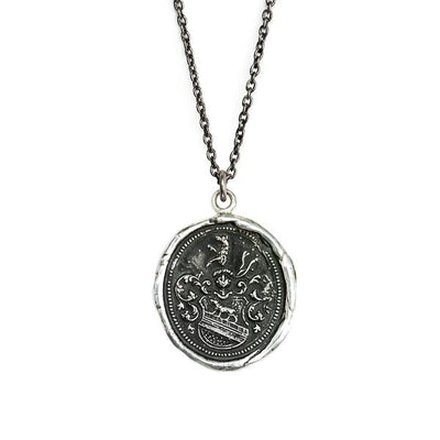 Sterling Silver Talisman Necklace - Heart of the Wolf