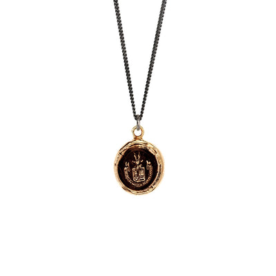 Bronze Talisman Necklace - Be Here Now