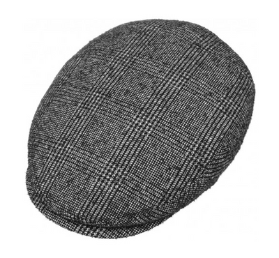 Kent Flat Cap - Black White Check