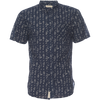 Truman Short Sleeve w/ Banded Collar - Fish Hook Print