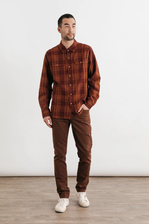 Cole - Burgundy Plaid