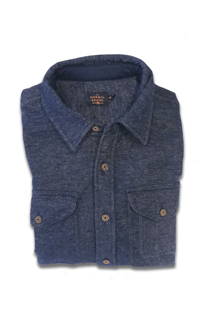 Twill Shirt Jacket - Blue