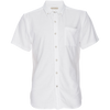 Truman Short Sleeve Stretch Terry Button-up - White