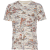 Marlon V-neck Printed Tee - Cream