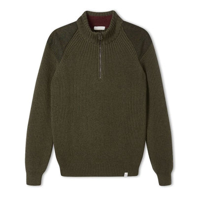 Foxton Quarter Zip Neck - Olive