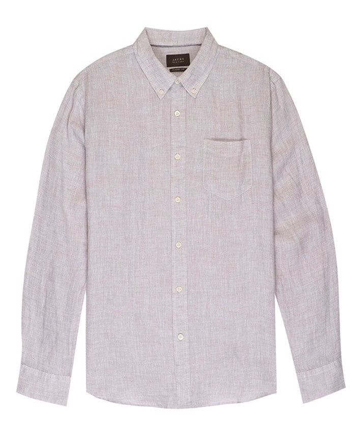 Linen Chambray Shirt - Grey