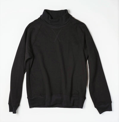 Charles Sweatshirt Turtleneck - Black