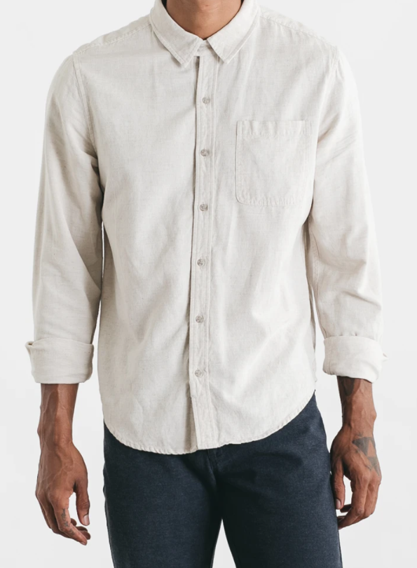 Jude Button Down - Natural