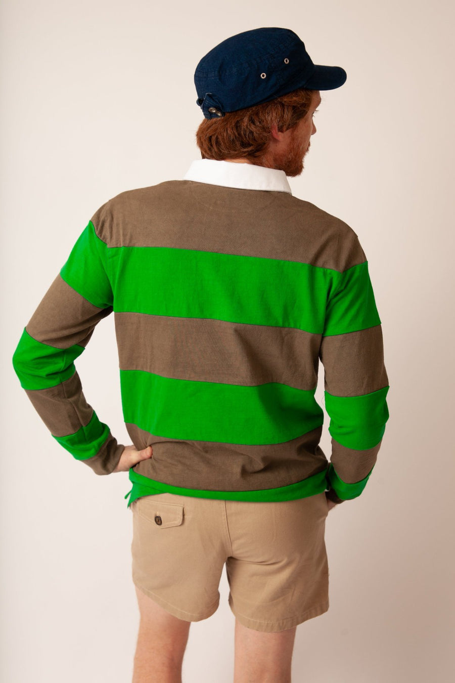 Hockney Stripe Rugby - Olive/Kelly