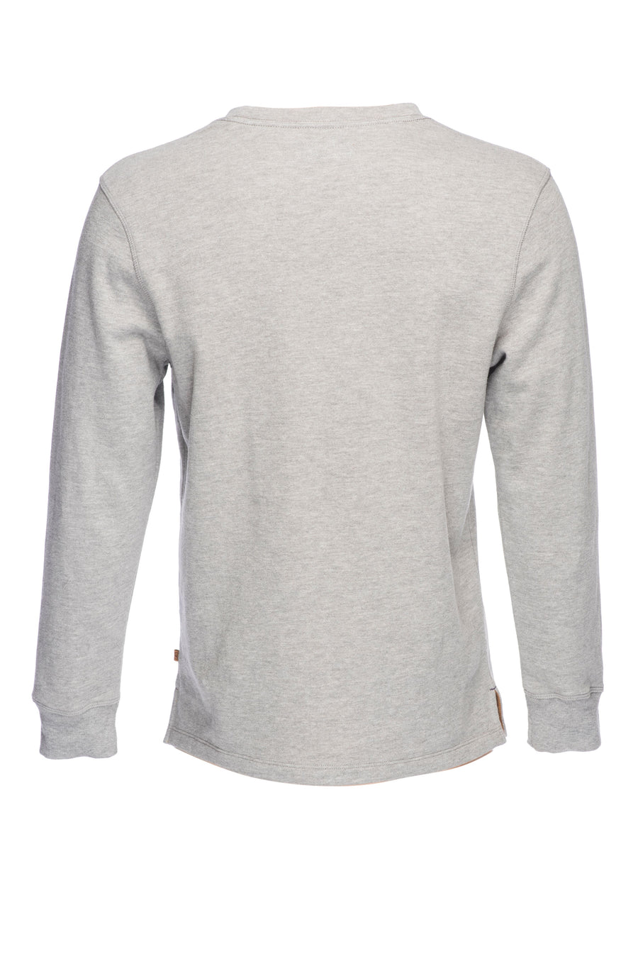 Benjamin Burnout Crew Neck Pull Over - Heather Gray