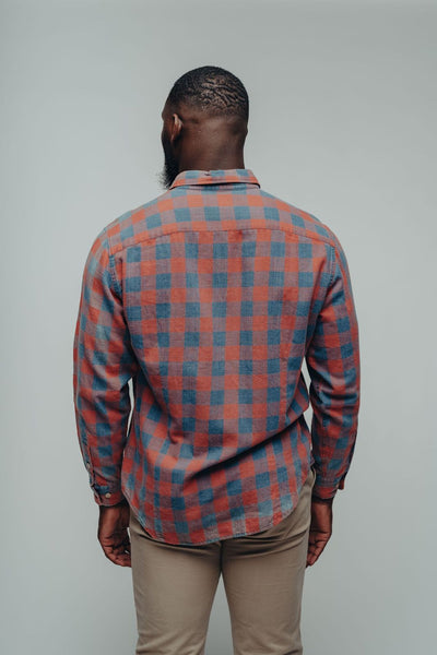 Jackson Button Down - Indigo Plaid