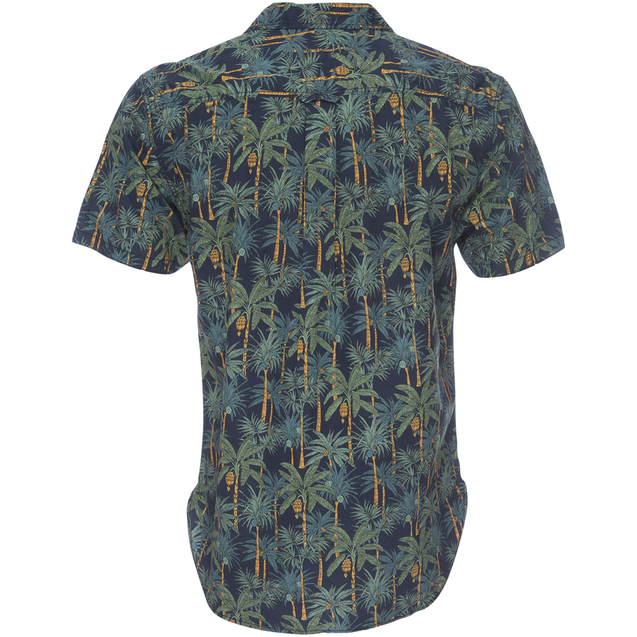 Truman Camp Shirt - Tropical Palm Print