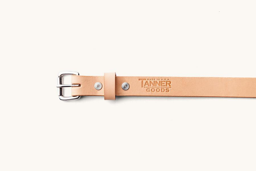 Natural Skinny Standard Belt w/ Stainless Steel Buckle