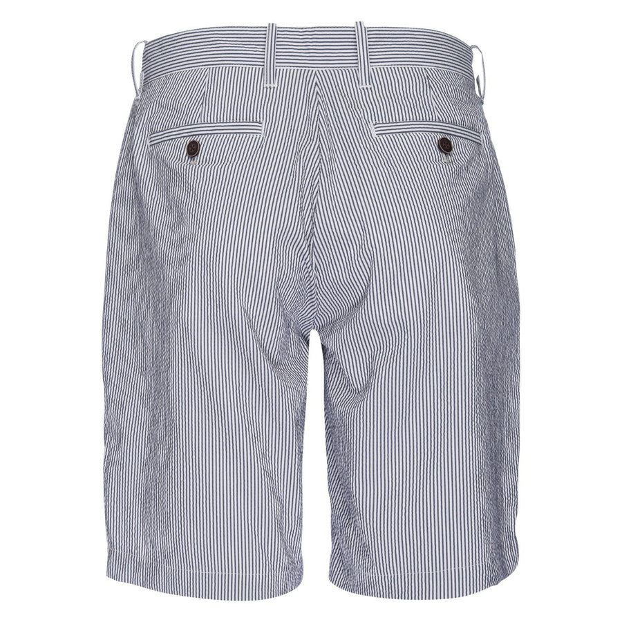 Morgan Bermuda Stretch Short in Stripe Seersucker