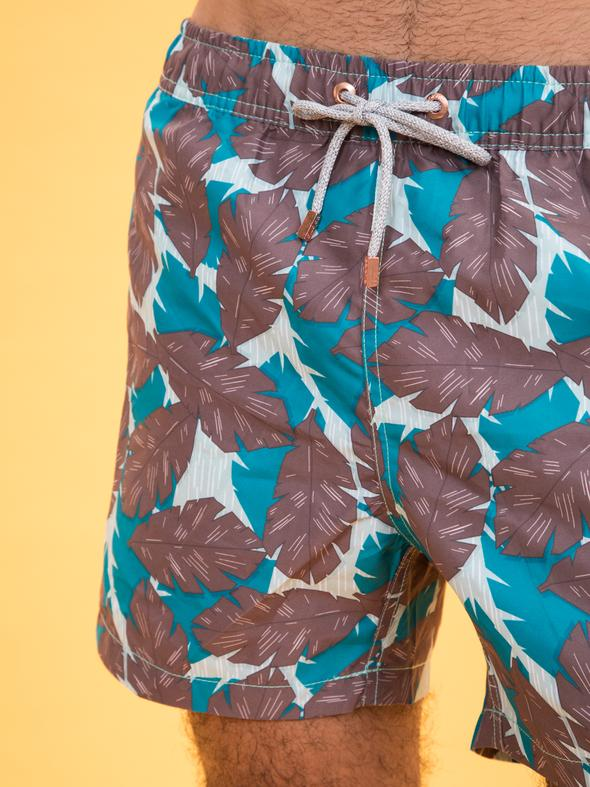 Polonio Classic Swim Trunk - Tropicamo Sea Green