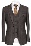 Swift Slim Fit Irish Tweed Blazer - Grey