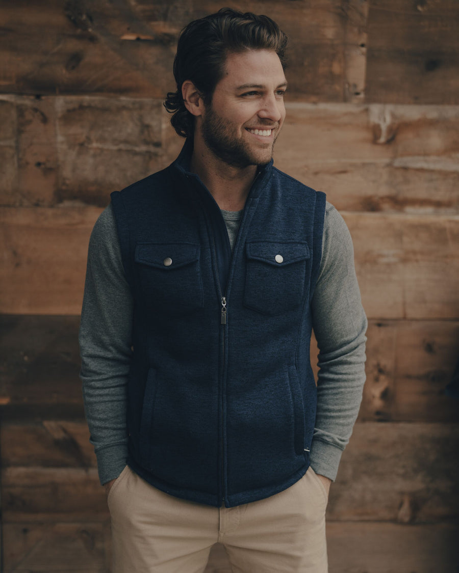 Lincoln Fleece Vest - Navy