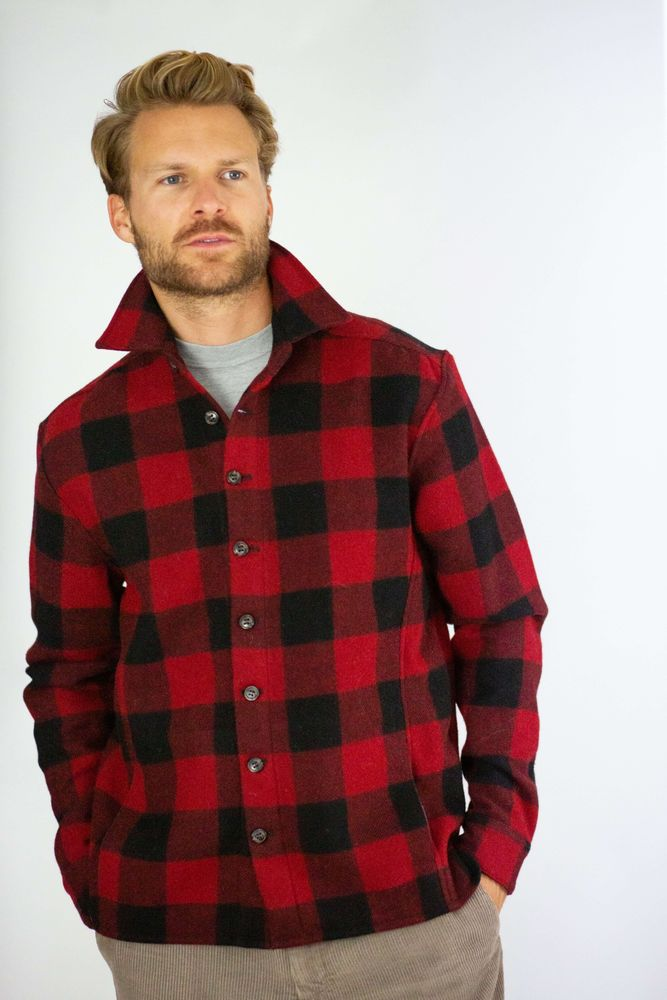 Wool Blanket Shirt - Buffalo