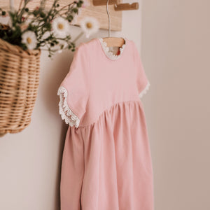 The Florence Dress~ Pale Blush