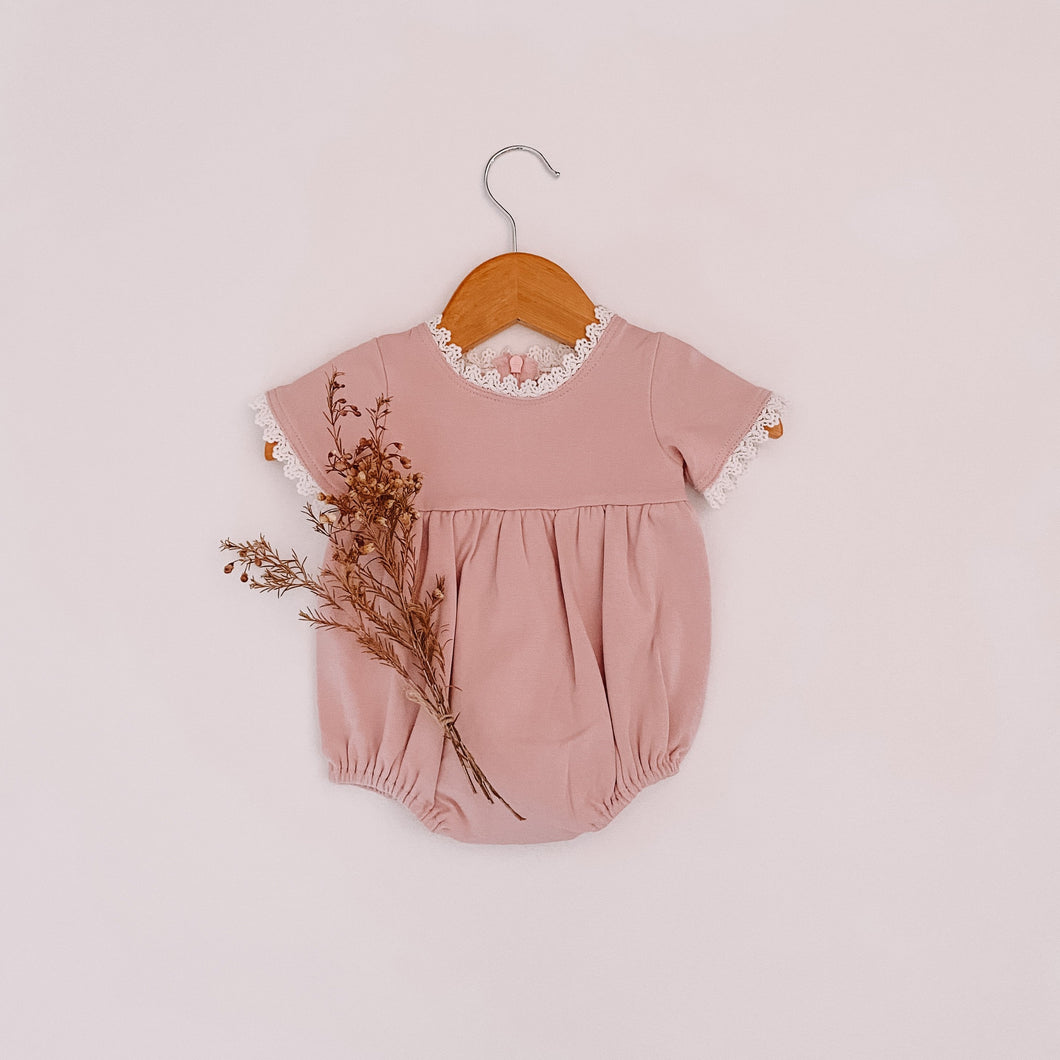 The Florence Romper ~ Pale Blush