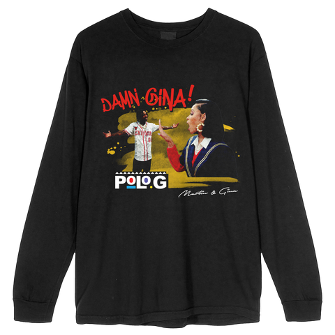 Damn Gina! Long Sleeve in Black