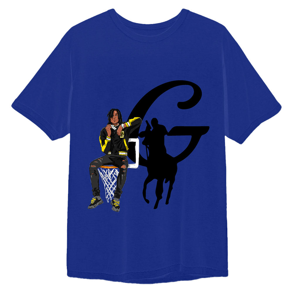 Air Goat Tee in Blue