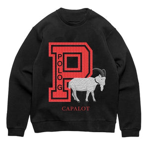 The Goat Crewneck in Black/Red