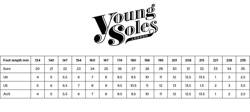 Young Soles Size Guide