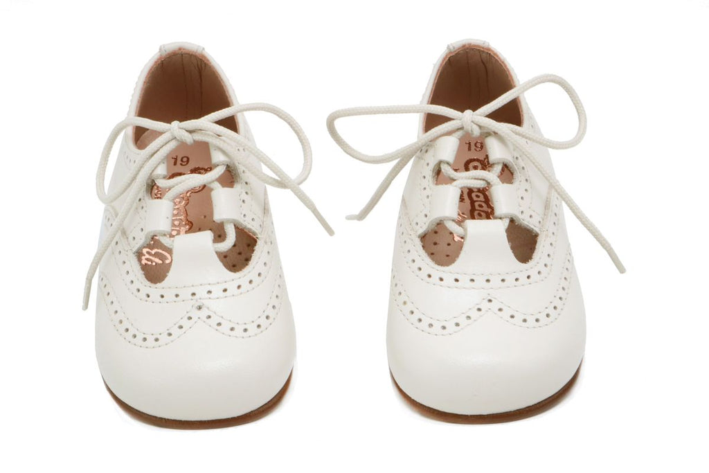 Cucada First Steps Lace Up Ivory - Kids Kicks Pty Ltd