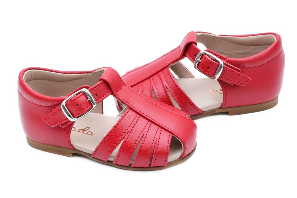 Cucada First Steps Sandal Red - Kids Kicks Pty Ltd