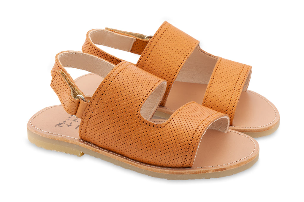 Manuela De Juan Baztan Sandal Tan - Kids Kicks Pty Ltd