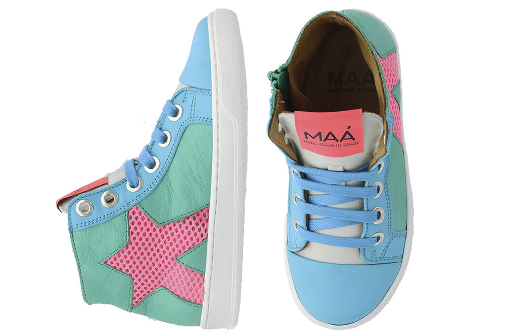 MAA High Tops Star Weave - Kids Kicks Pty Ltd