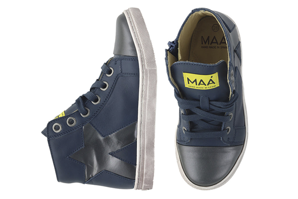 MAA High Tops Star Dark Grey - Kids Kicks Pty Ltd