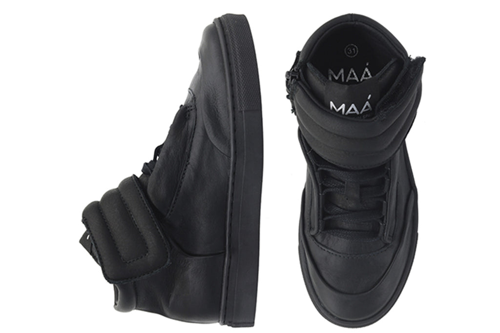 MAA High Tops Black Velvet - Kids Kicks Pty Ltd