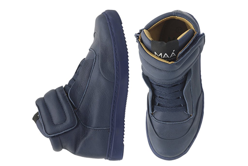MAA High Tops Navy Velvet - Kids Kicks Pty Ltd