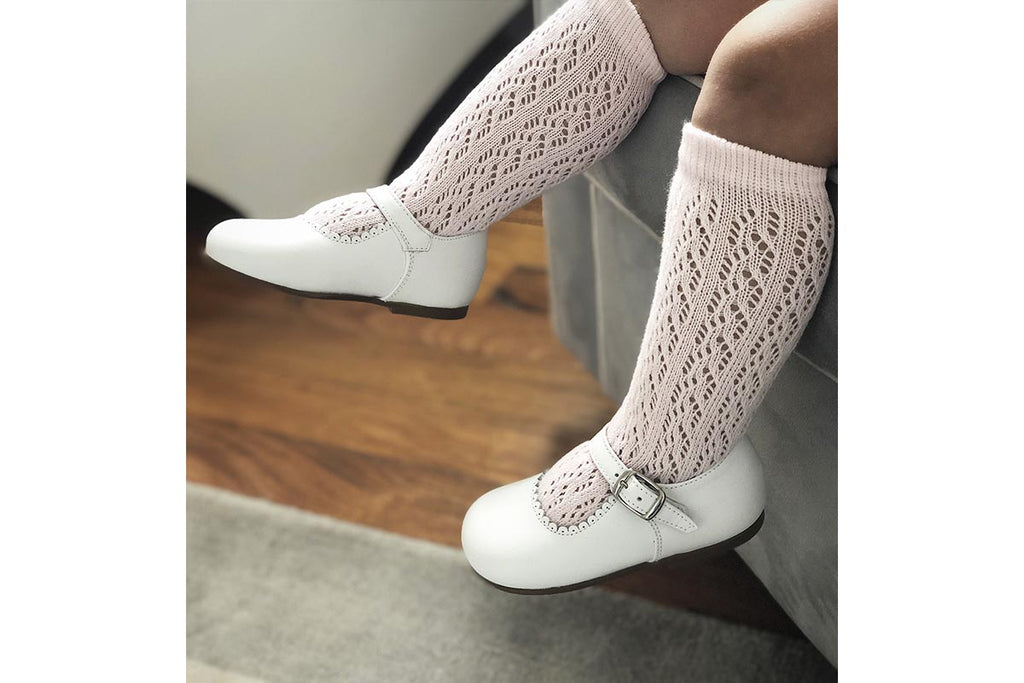 Openwork Socks Candy Pink