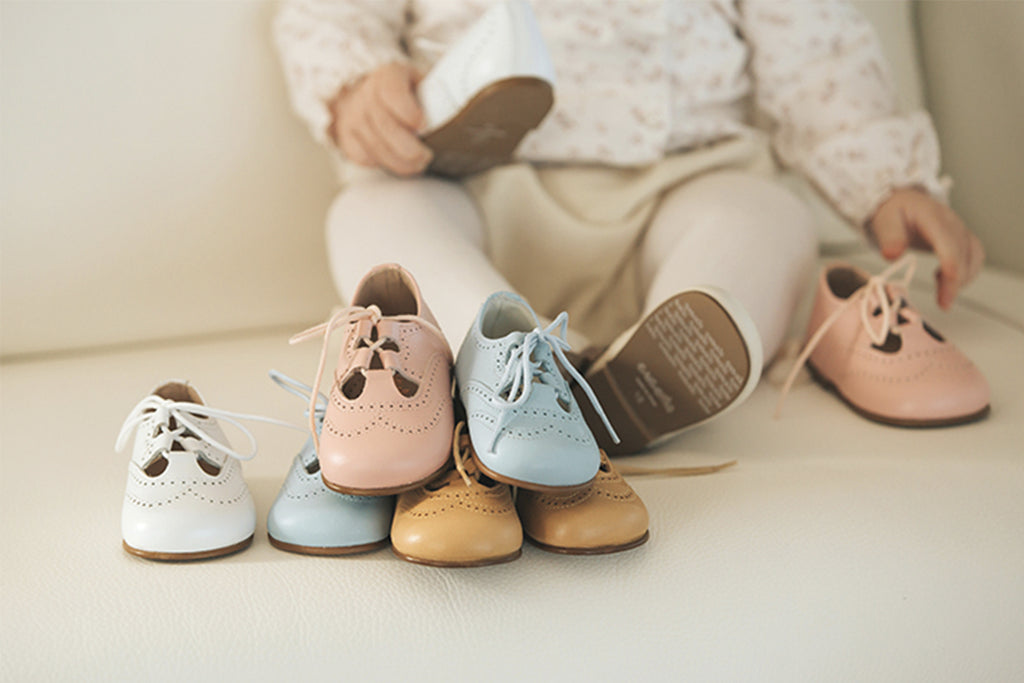 Cucada First Steps Lace Up Mink - Kids Kicks Pty Ltd