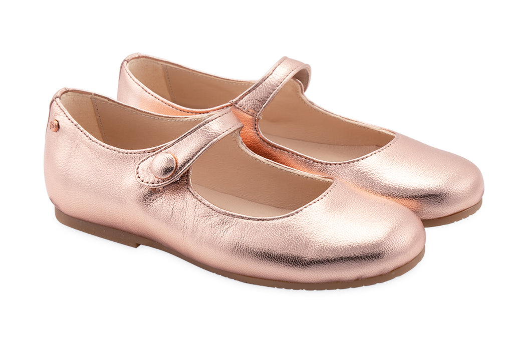 Manuela De Juan Mimi Mary Jane Old Rose Gold - Kids Kicks Pty Ltd