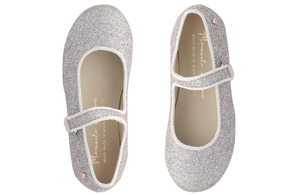 Manuela De Juan Mimi Mary Jane Pink Glitter - Kids Kicks Pty Ltd