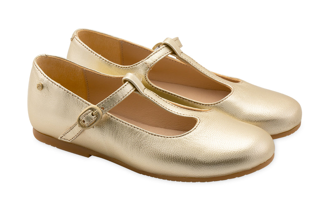 Manuela De Juan Charlotte T-Bar Gold - Kids Kicks Pty Ltd