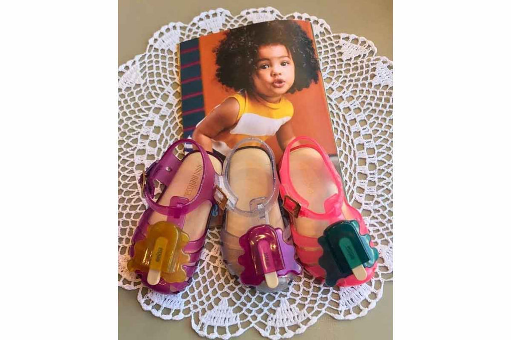 Mini Melissa Aranha Popsicle Pink/Dark Green