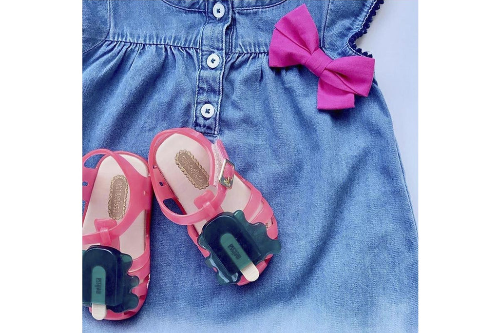 Mini Melissa Aranha Popsicle Pink/Dark Green - Kids Kicks Pty Ltd