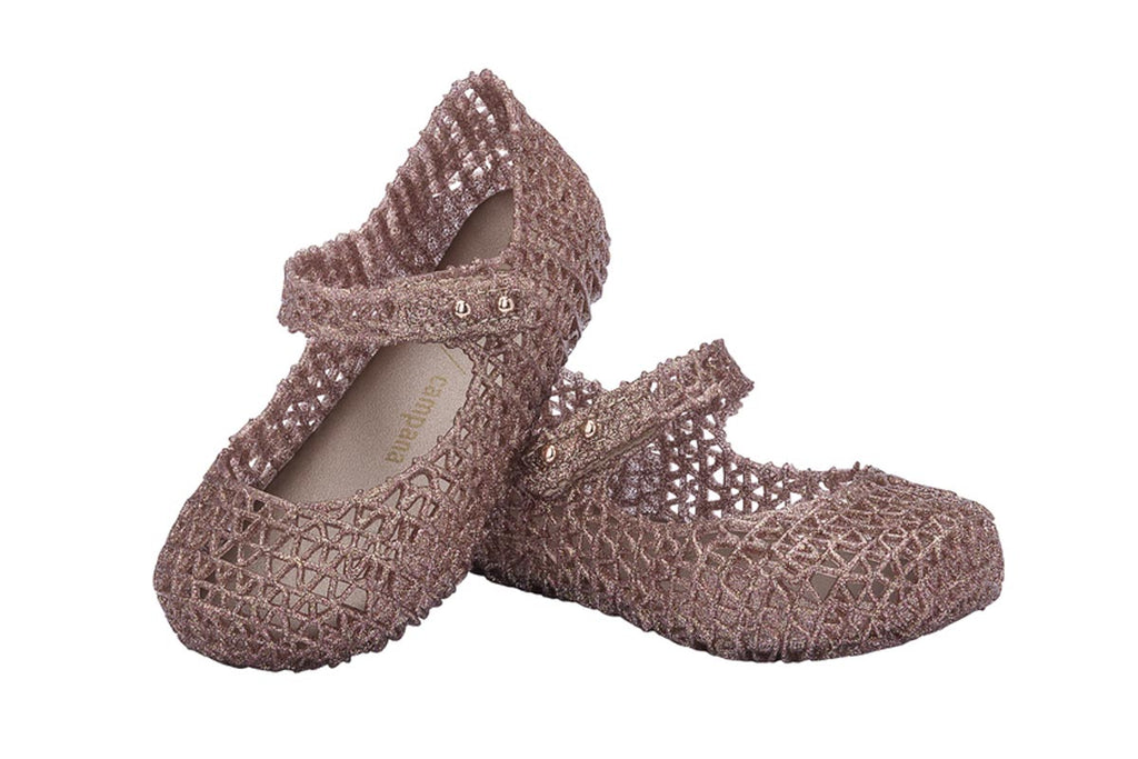 Mini Melissa Campana Rose Gold Glitter
