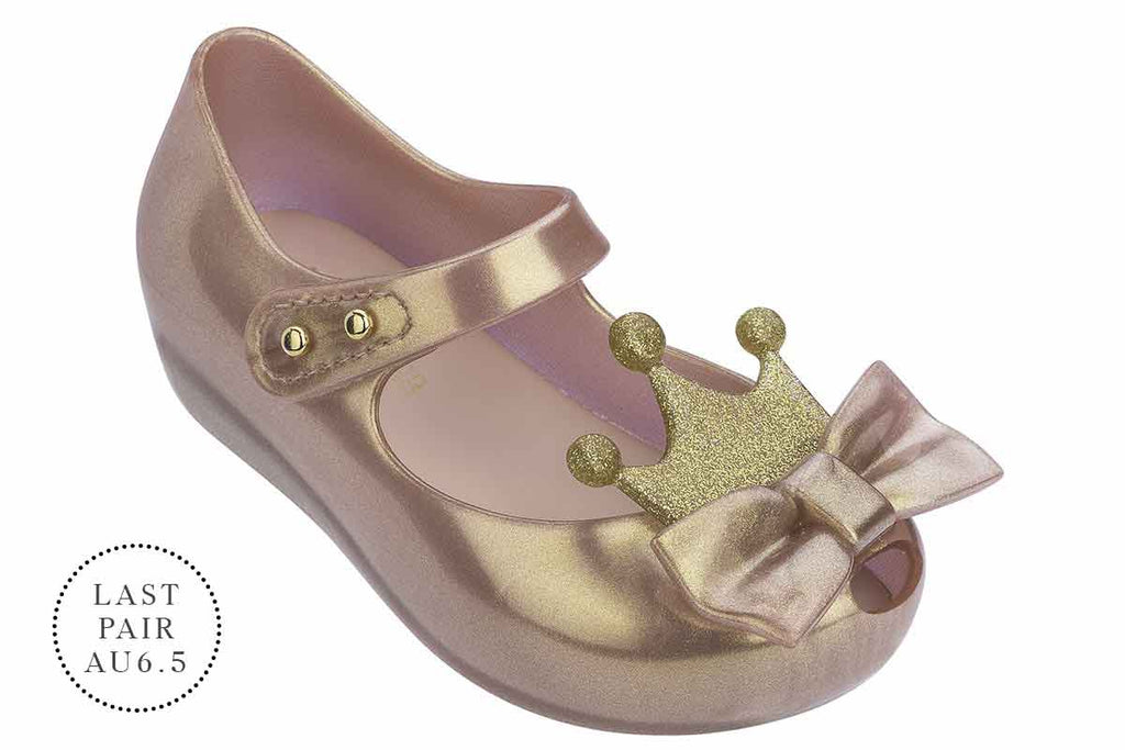Mini Melissa Ultragirl Princess Rose Gold Metallic