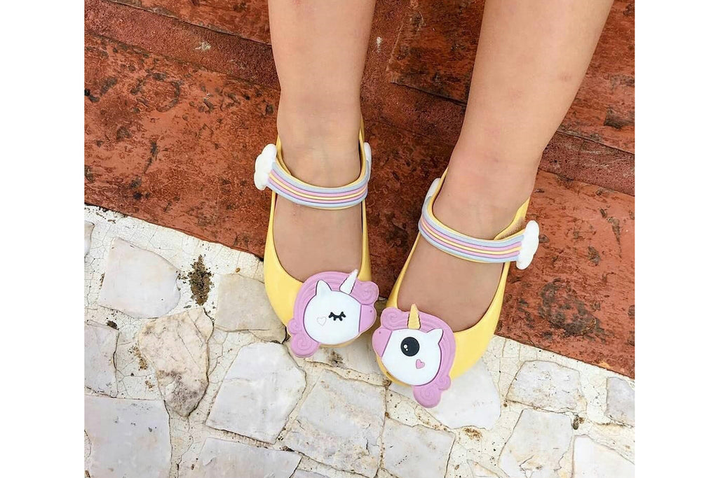 Mini Melissa Ultragirl Unicorn Pale Yellow Gloss - Kids Kicks Pty Ltd
