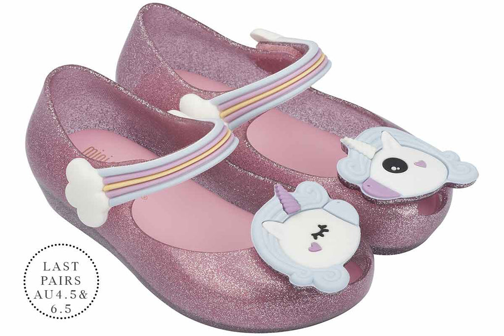Mini Melissa Ultragirl Unicorn Pink Glitter