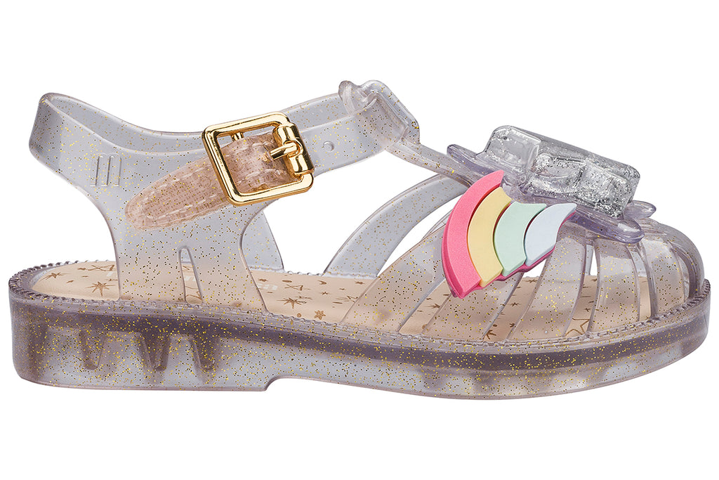 Mini Melissa Possession II Clear Glitter - Kids Kicks Pty Ltd